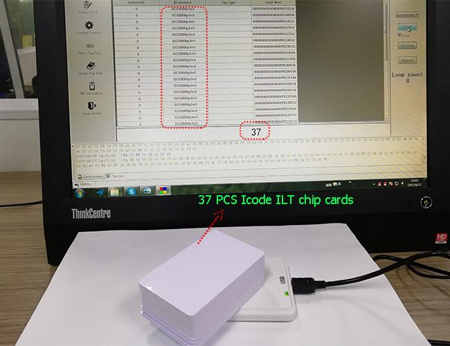 Escritor ISO14443A ISO15693 ISO18000 do leitor do Desktop de NFC RFID do plug and play - 3Mode3